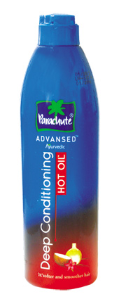 Масло для волос с горячим эффектом для стимуляции роста и укрепления волос Parachute Advansed 190 мл