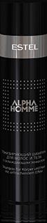 Шампунь для волос и тела тонизирующий с охлаждающим эффектом ALPHA HOMME