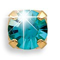 Серьги – Декабрь – Голубой цирконий  – 4 мм. 38014