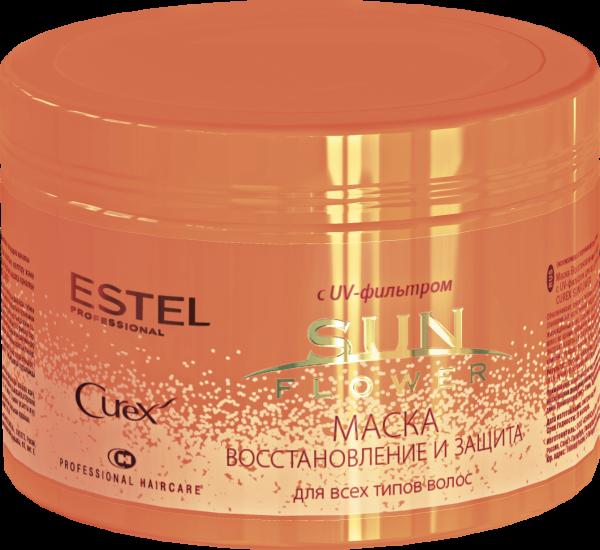 Маска для волос Восстановление и Защита CUREX SUNFLOWER с Uv – Фильтром 500 мл