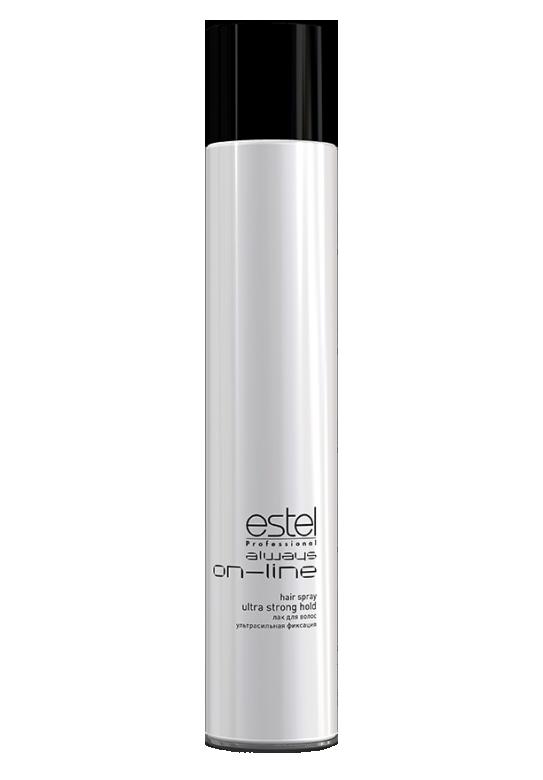 Лак для волос ультрасильной фиксации ESTEL always ON-LINE 400 мл