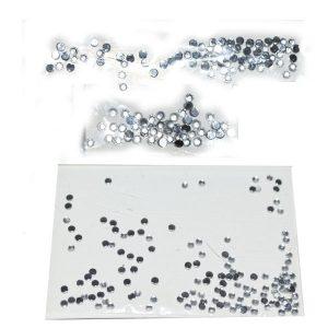 Стразы круглые серебро в п/э упаковке