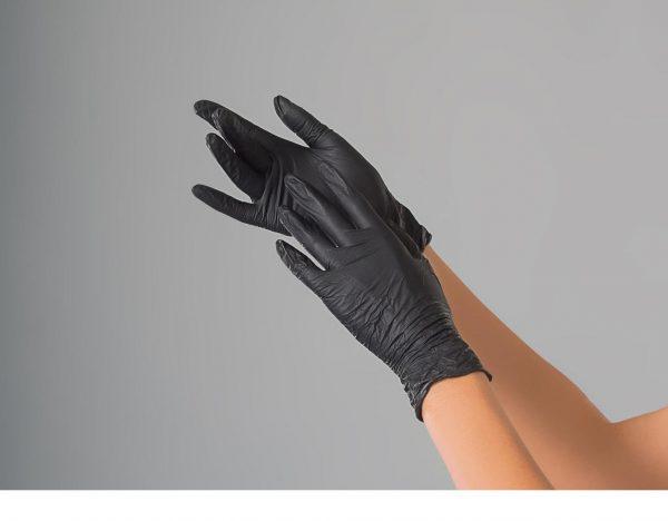 Перчатки нитриловые Polix PRO&MED (100шт/уп.) цвет: EXTRA SAFE BLACK