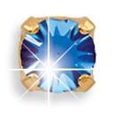 Серьги – Март – Аквамарин – 4 мм. 38005