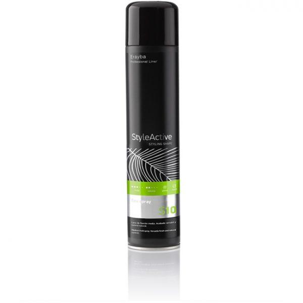 Лак для волос средней фиксации Erayba S10 FLEX SPRAY 500 мл